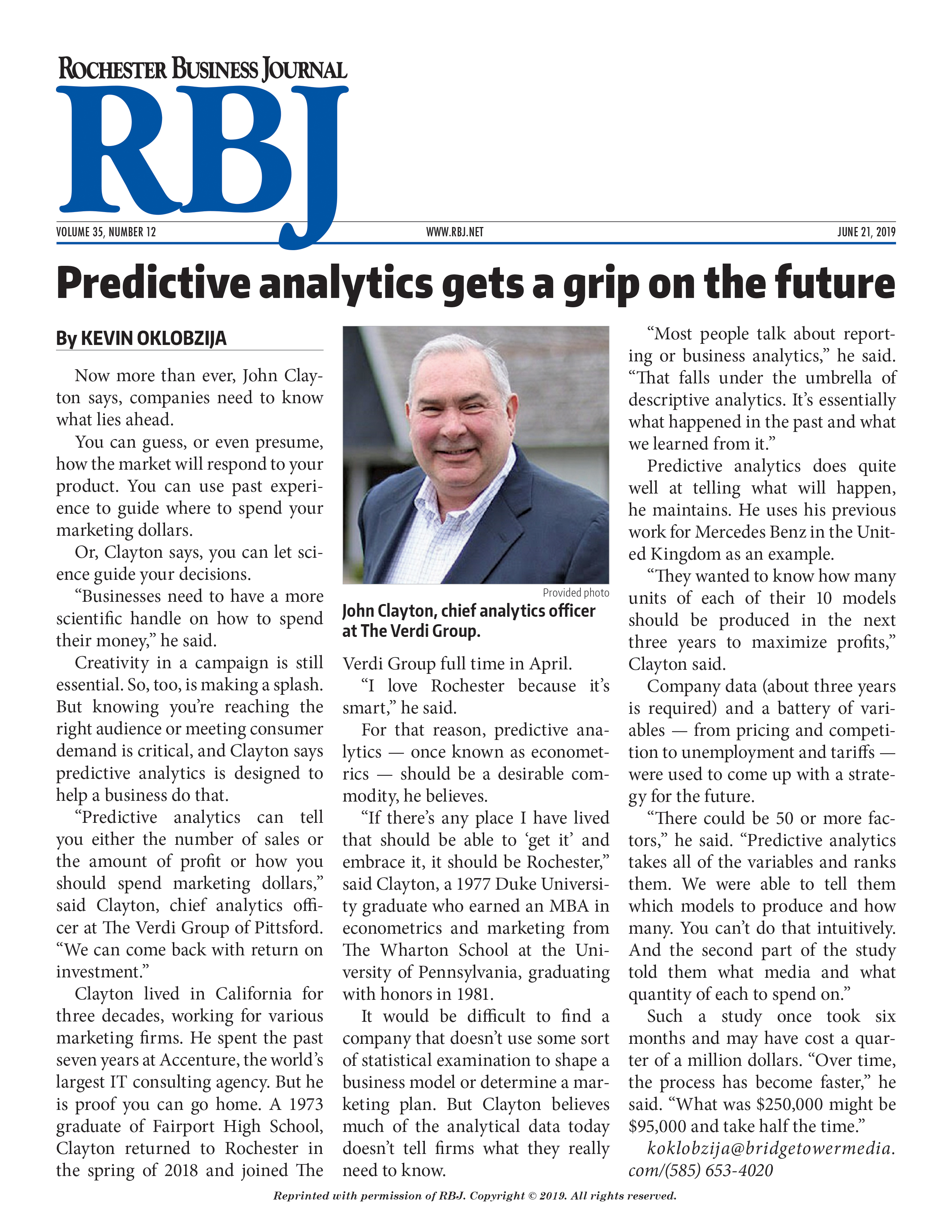 Clayton Feature in RBJ